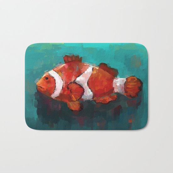 Red Clown Bath Mat