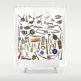 vintage utensils Shower Curtain