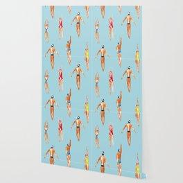 swimmer pattern Wallpaper