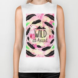 Wild at Heart - Boho Feathers and Mountain Biker Tank