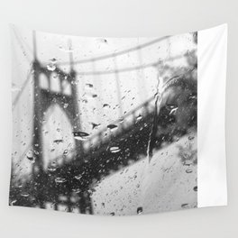Rainy Bridge Wall Tapestry