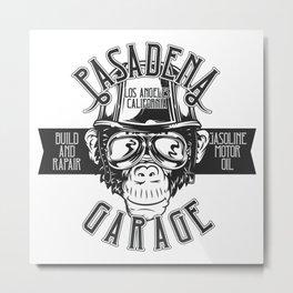 Pasadena Garage Metal Print