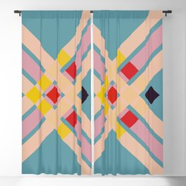 Mullo - Colorful Decorative Abstract Art Pattern Blackout Curtain