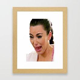 Kim K Crying Framed Art Print