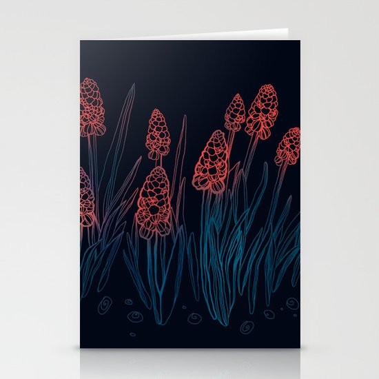 Hyacinths in the night Stationery Cards