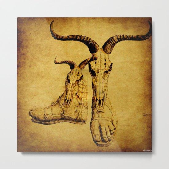the mystic feet 2 Metal Print