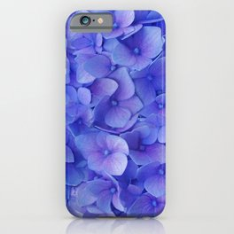 Hydrangea blue iPhone Case
