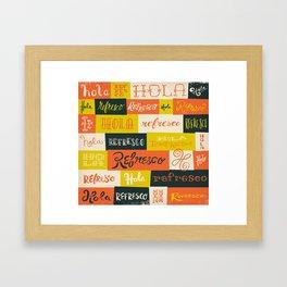 Hola / Refresco Framed Art Print