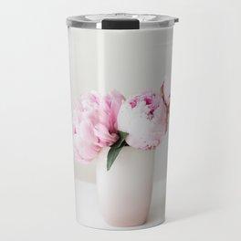 Pink Peonies 06 Travel Mug