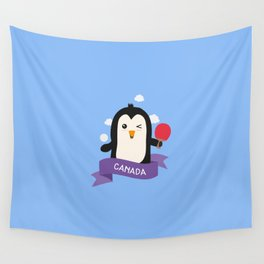 Penguin table tennis from CANADA T-Shirt Wall Tapestry