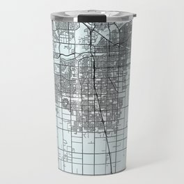 Bakersfield, CA, USA, White, City, Map Travel Mug