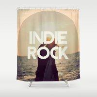 indie Shower Curtains featuring Indie Rock by El Rock Es Cultura