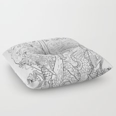The Eye of the Storm Floor Pillow