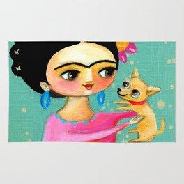 Sweet Chihuahua dog Rug