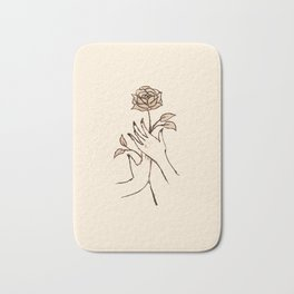 hold a flower. Bath Mat