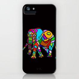 Rainbow Elephant iPhone Case