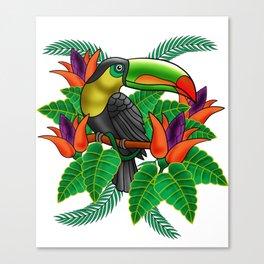 Toucan Tucan Tropical Bird Cool Jungle Animal Gift Canvas Print