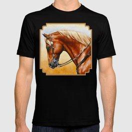 Western Sorrel Quarter Horse T-shirt