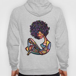Black Afro Hoody