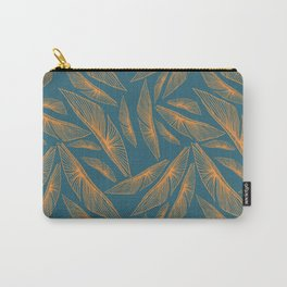 Feathered Leaf Pattern Carry-All Pouch