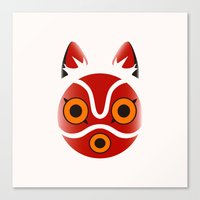 princess mononoke Canvas Prints featuring Mononoke by Miss Phi