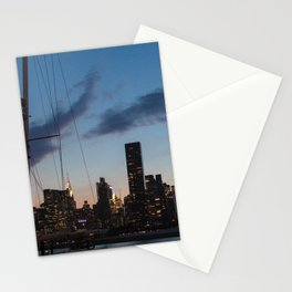 NYC Skyline at Night Stationery Cards