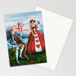 Steampunk Gothic Lolita Alice Croquet Stationery Cards