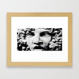 Stone Face by Igh Kihl Media Piffington Kushfield Photography Framed Art Print