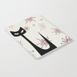 MID-CENTURY ATOMIC PINK CATS Notebook