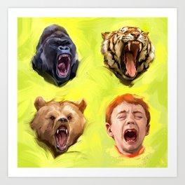 Screaming Art Print