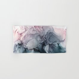Blush and Paynes Gray Flowing Abstract Reflect Hand & Bath Towel