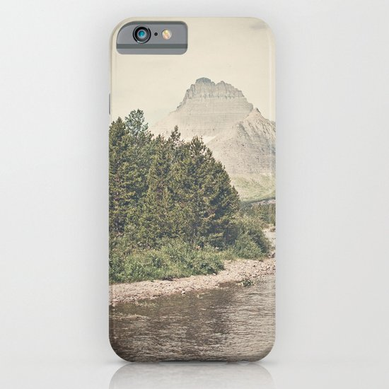 Retro Mountain River iPhone & iPod Case