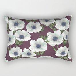 anemone floral // repeat pattern Rectangular Pillow