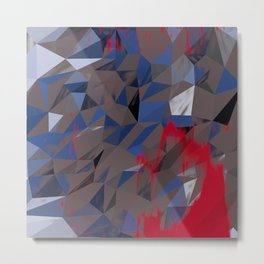 Low Poly background R1 Metal Print