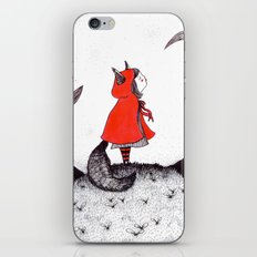 Red Riding Howl iPhone & iPod Skin