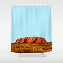 uluru polygon Shower Curtain