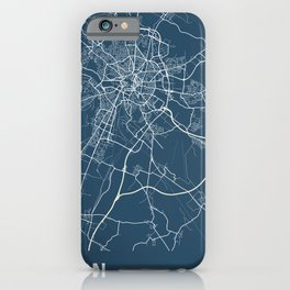 Dijon Blueprint Street Map, Dijon Colour Map Prints iPhone Case