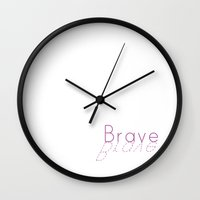 brave Wall Clocks featuring Brave by Dena Brender Photography