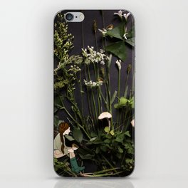 Bridie and the Robins in the Forest of Shamrocks iPhone Skin