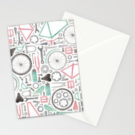 Cycling Bike Parts Stationery Cards