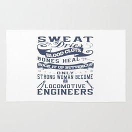 Locomotive Engineer Woman Rug