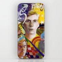 scott pilgrim iPhone & iPod Skins featuring SCOTT PILGRIM VS. MICHAEL CERA by spatsula