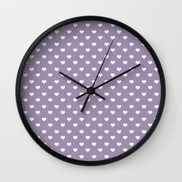 Lavender 4 hearts Wall Clock