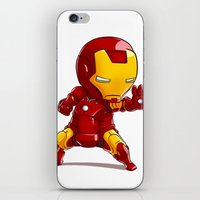 ironman iPhone & iPod Skins featuring IRONMAN by MauroPeroni