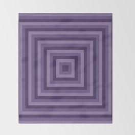 Purple Squares Throw Blanket
