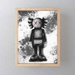 kaws air Framed Mini Art Print