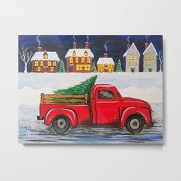 Bringing Home the Christmas Tree  Metal Print