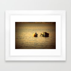 boat in the water Framed Art Print