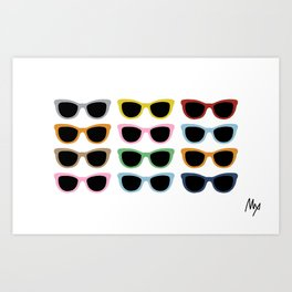 Sunglasses #4 Art Print