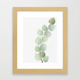 Golden Eucalyptus Minimal III Framed Art Print